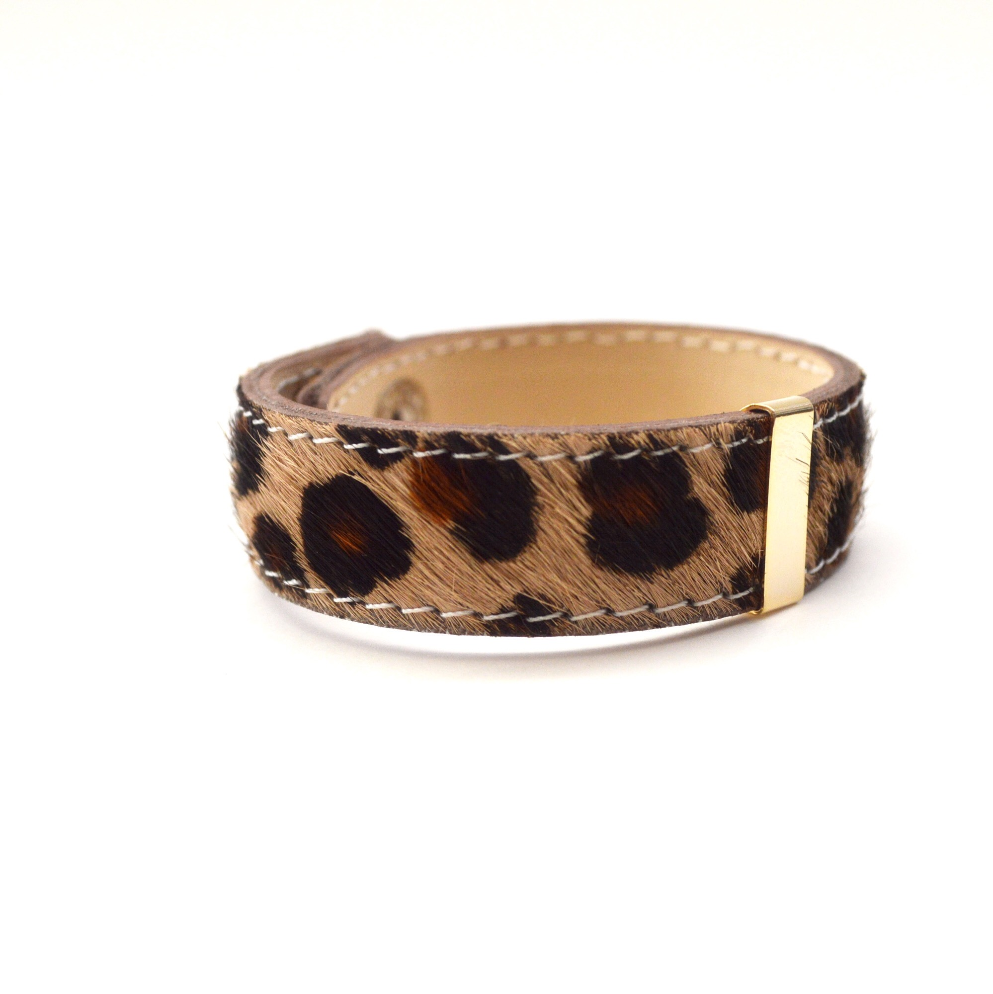 Harako Leather Bangle(leopard)