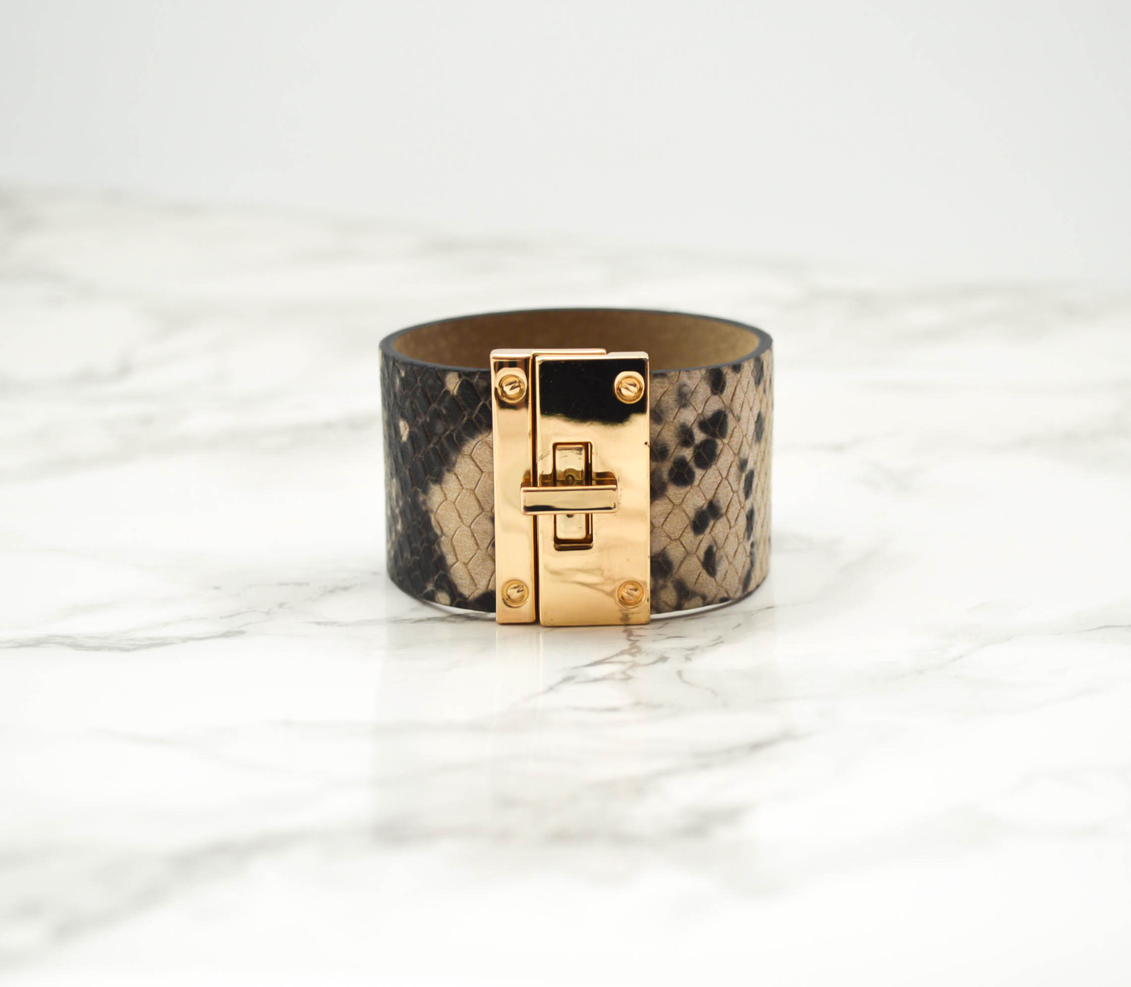 Python Leather Bangle
