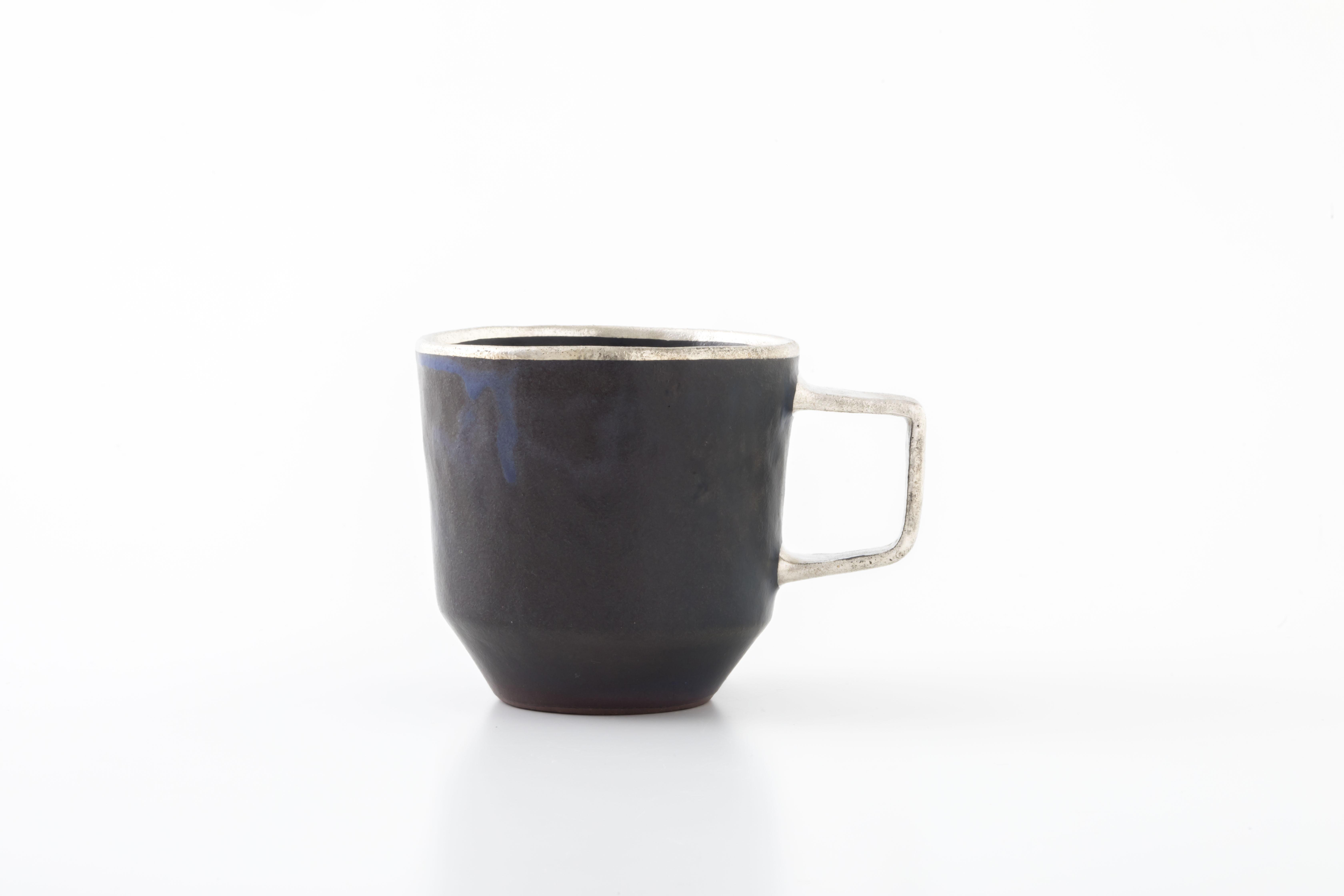 stacking mug:銀縁×銀取手(02-1) / holk store × 中囿義光