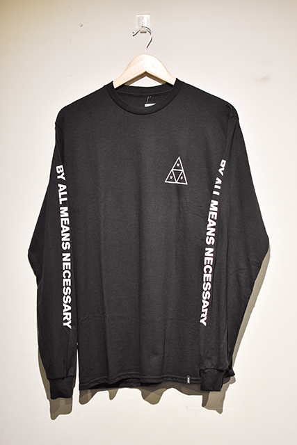 HUF(ハフ) | TRIPLE TRIANGLE L/S TEE (Black)