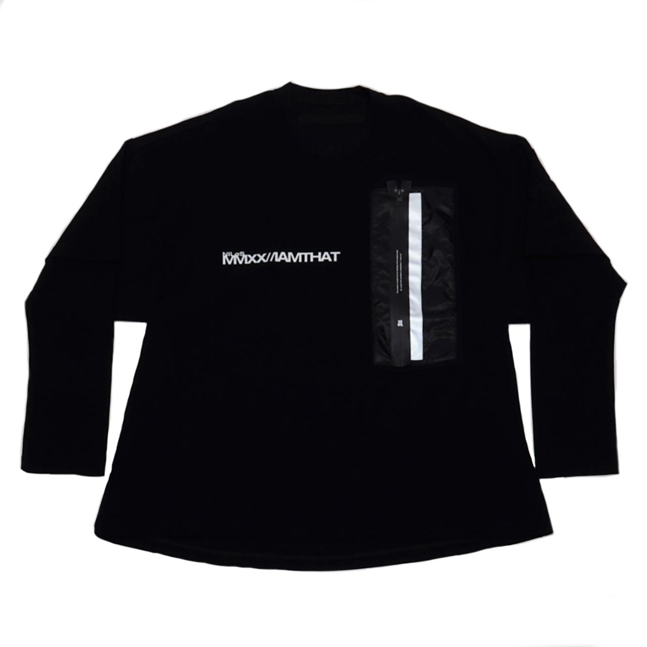 720CPM3-BLACK / リフレクターポケット ロングスリーブTシャツ