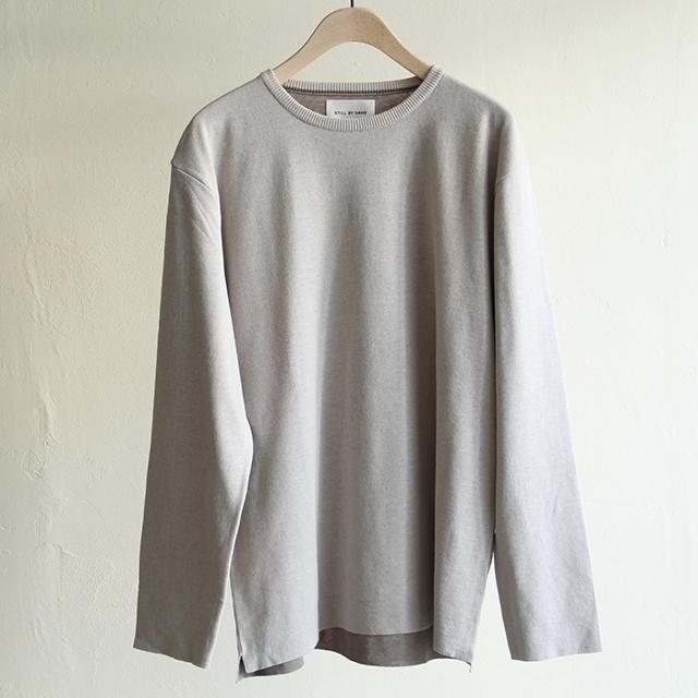 STILL BY HAND  【 mens 】18GG crew neck knit