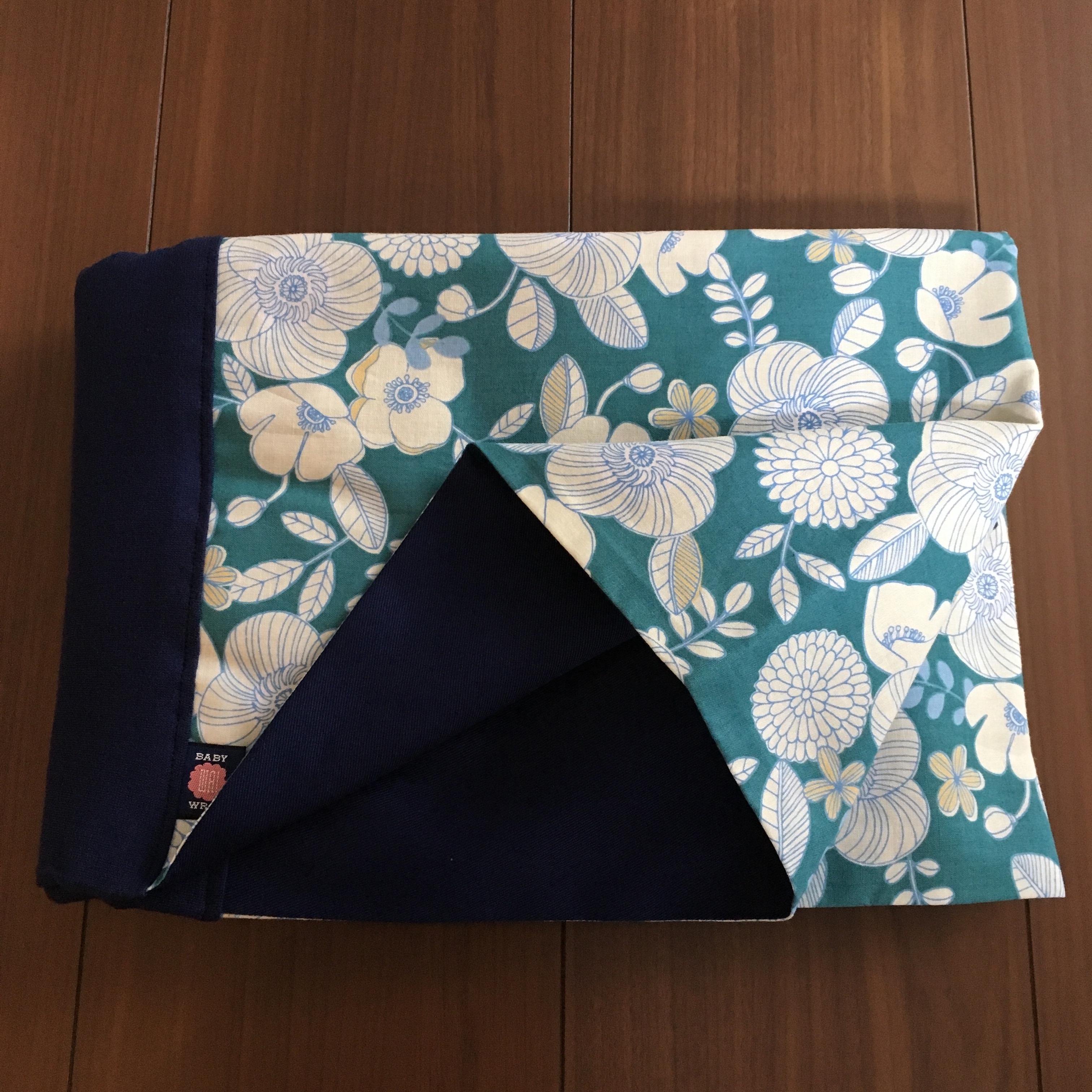 WA wrap /  ニーナ青緑花柄
