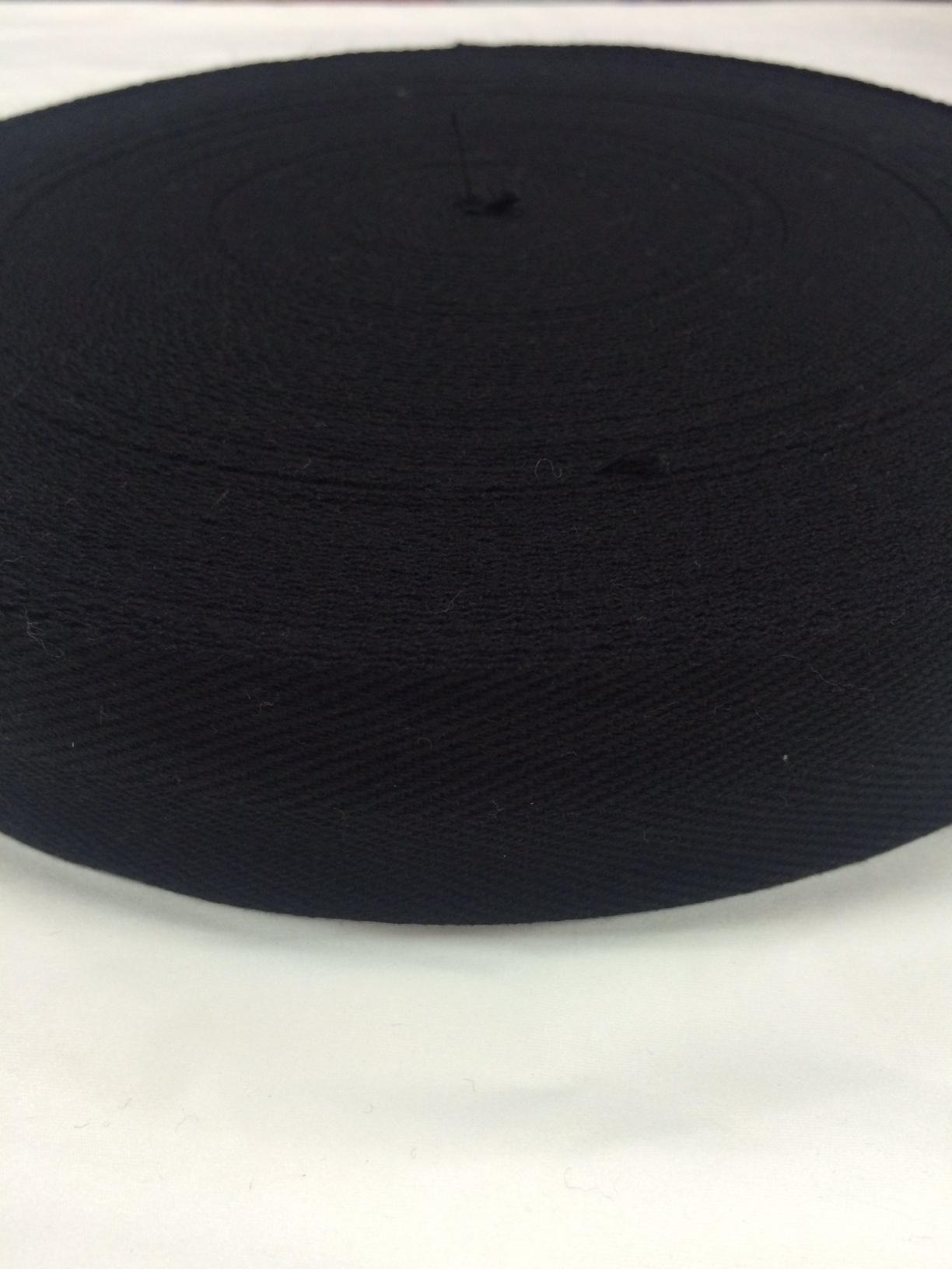 アクリルテープ 杉綾織(綾テープ)  黒 38mm幅 1mm厚 5m単位