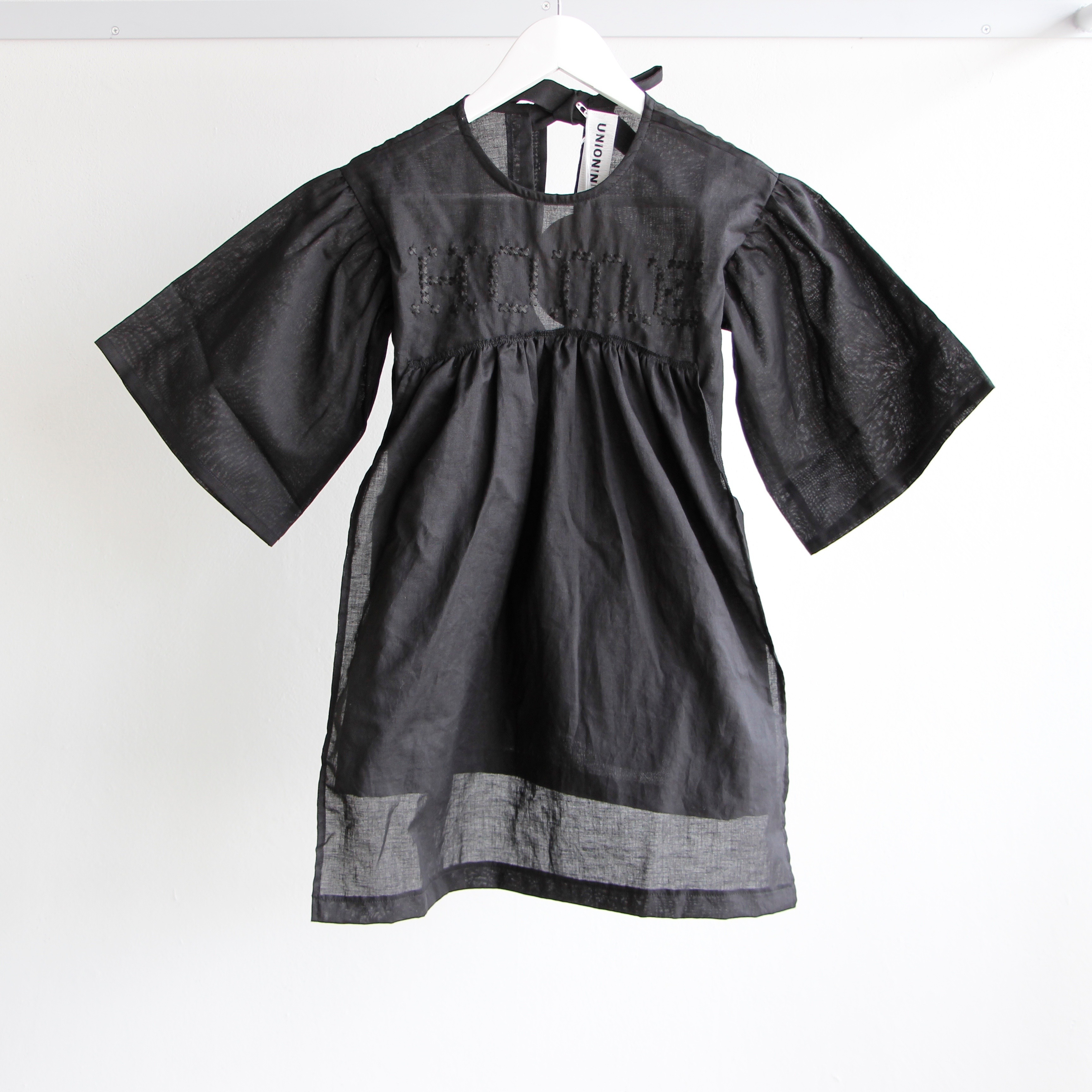 《UNIONINI 2018SS》HOME blouse dress / black / 1Y-10Y