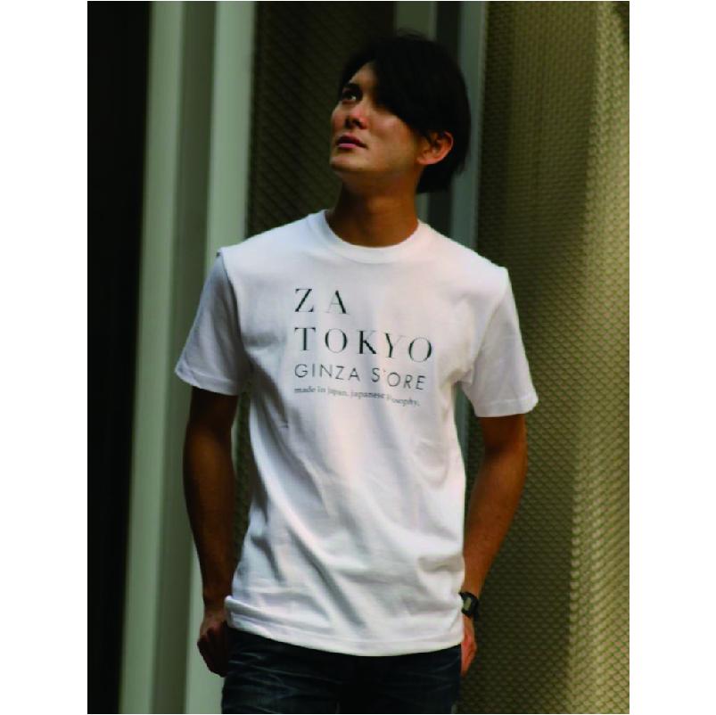 ZA TOKYO クルーネック  ロゴプリントTシャツ Z101