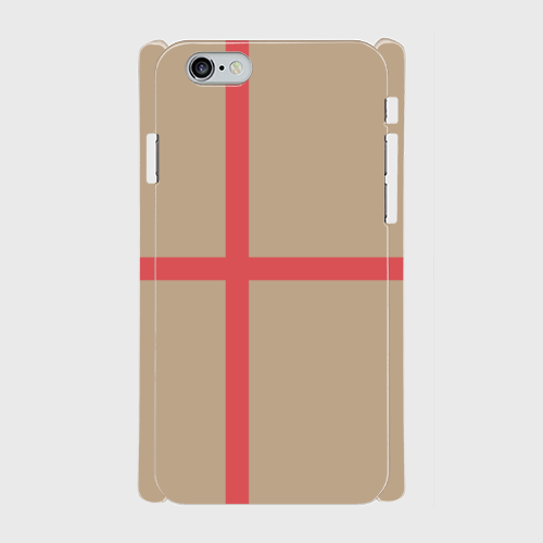 iPhone6/6sスマホケース ☆ベージュ×ピンク☆側表面印刷ツヤ有り(コート)