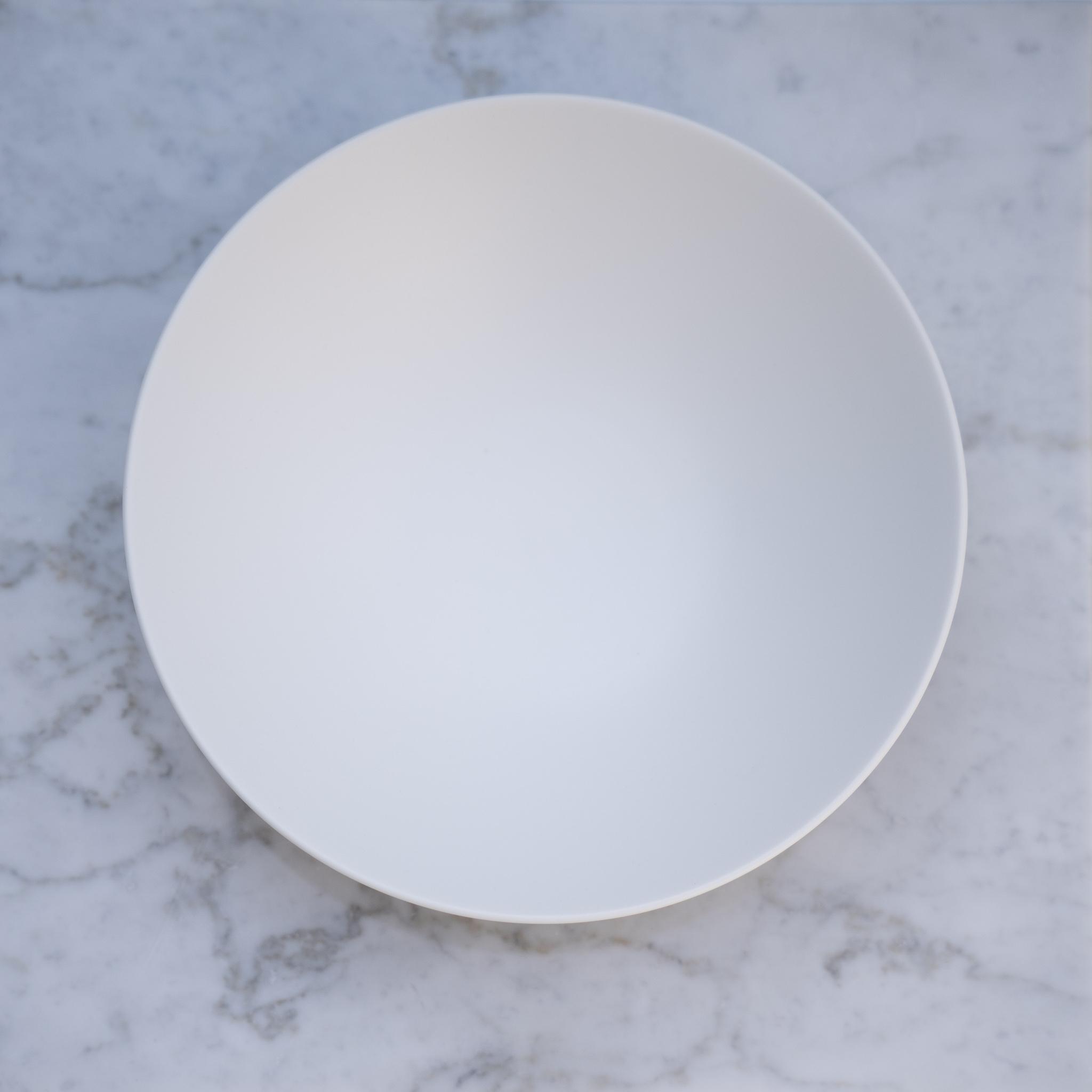 Stoneプレート クープ皿  ホワイト 21㎝