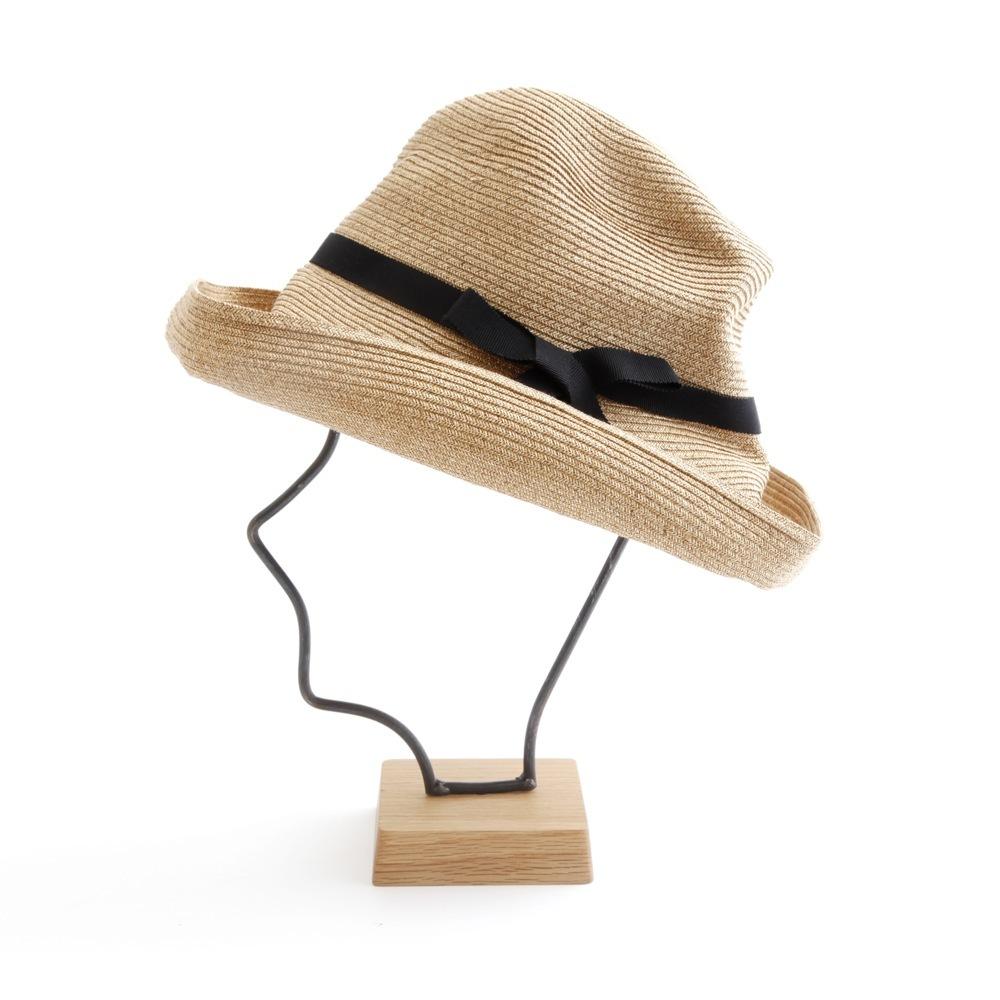 mature ha./BOXED HAT 101 mixbrown×black