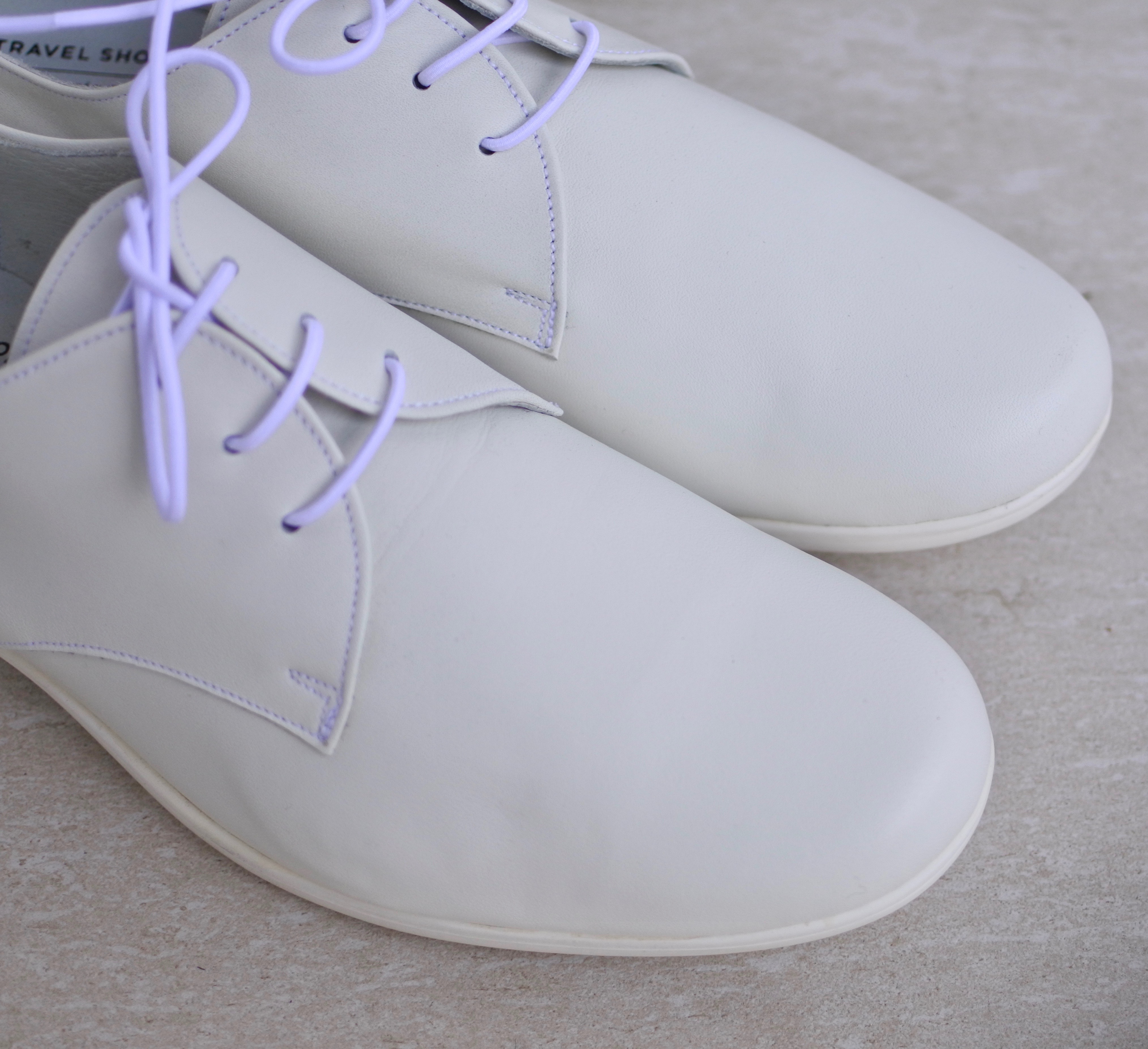 TRAVEL SHOES by chausser / プレーントゥレースアップシューズ
