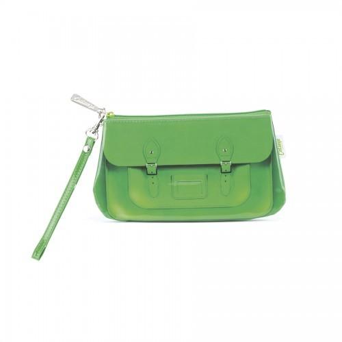 Satchel Green Wristlet_STG4WR