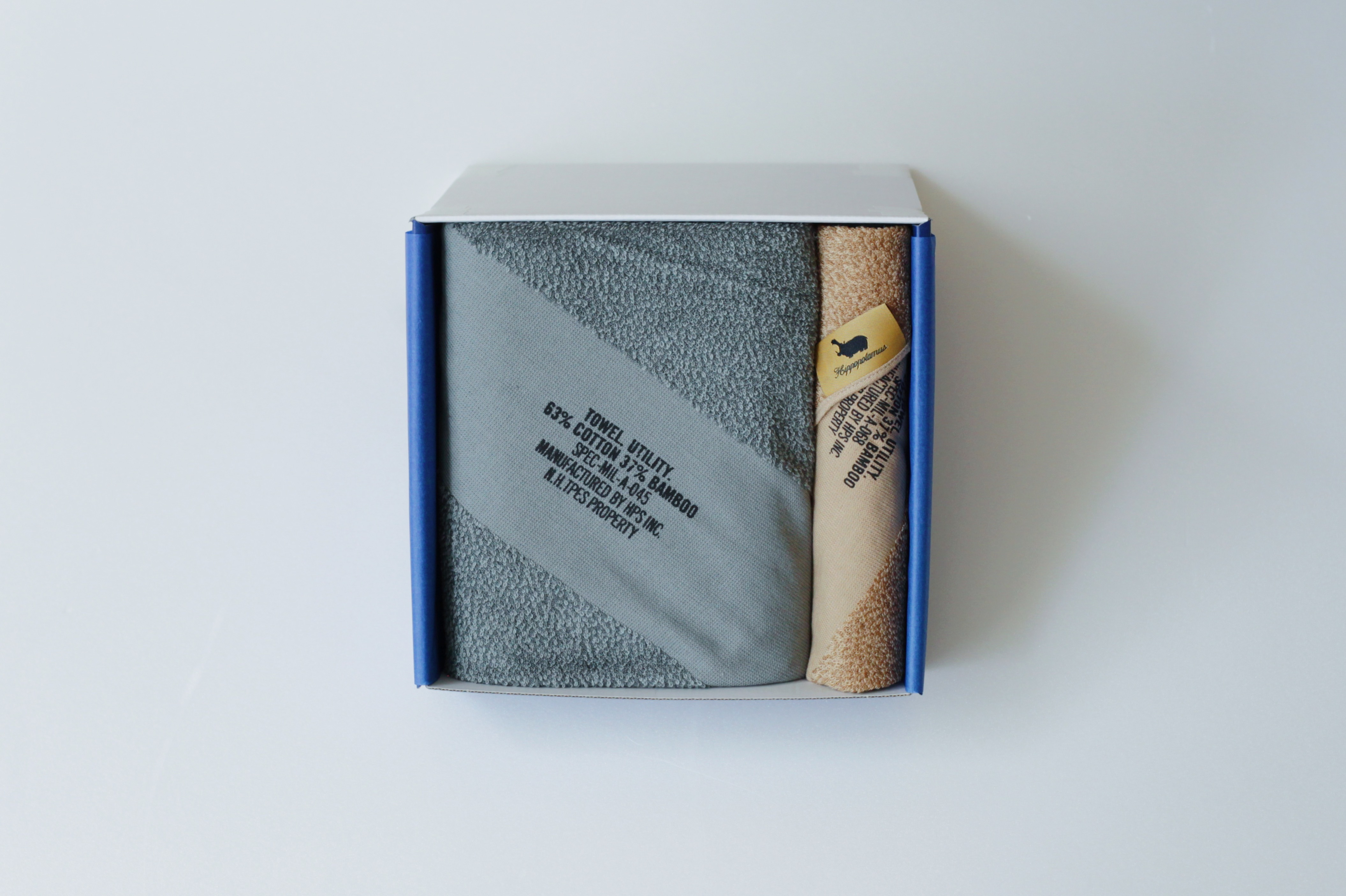 【N.HOOLYWOOD(エヌハリウッド)×Hippopotamus(ヒポポタマス)】 ギフトセット フェイスタオル×1+チーフタオル×1