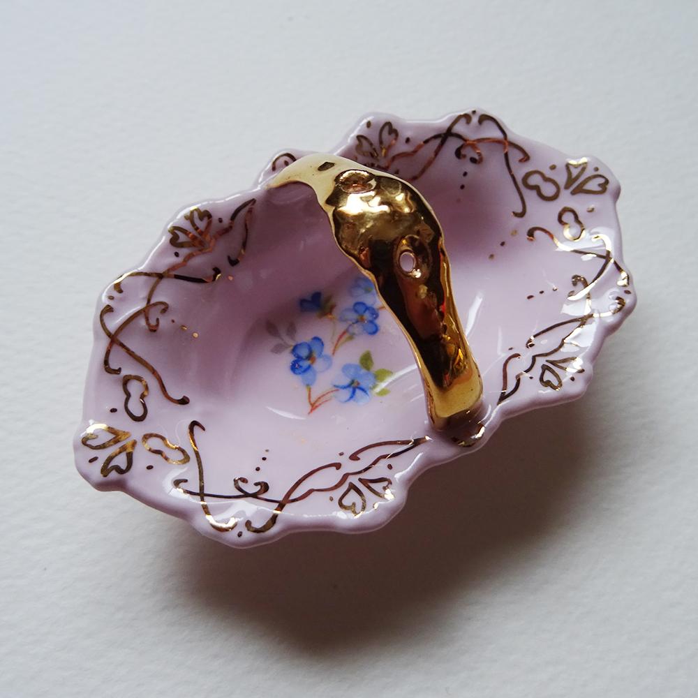 チェコ ショドフ ホドフ H&C ピンクポーセリン 小さなカゴ