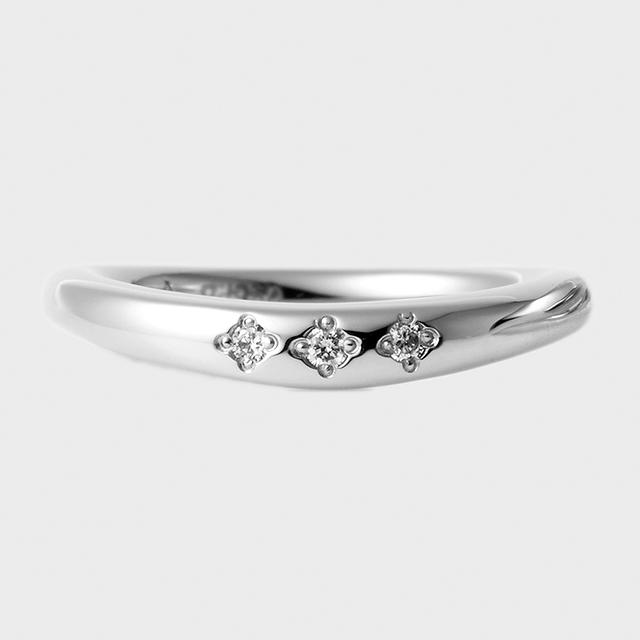 PORTADA BABY RING ESQUINA(LADY'S MODEL)K18WG(ポルターダ ベビーリング エスキーナ レディースモデル K18ホワイトゴールド ダイヤモンド)