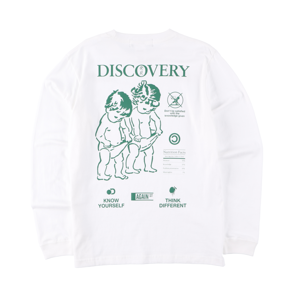 DISCOVERY L/S Tee White