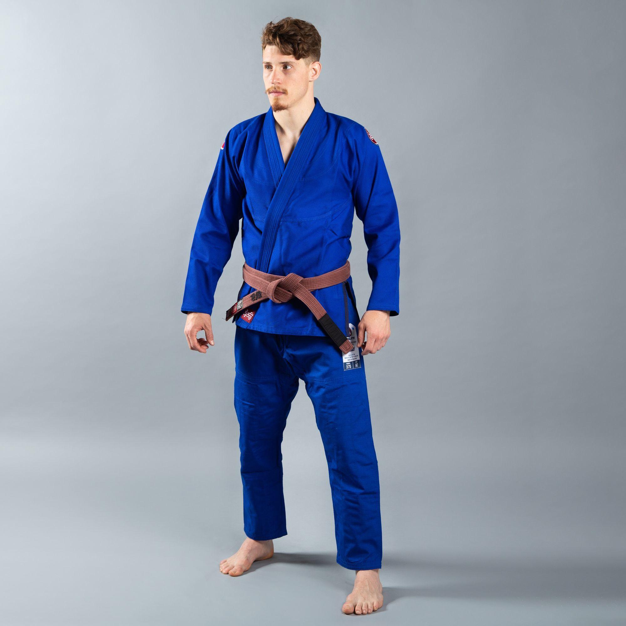 SCRAMBLE ATHLETE 4:375(ブルー、青)|ブラジリアン柔術衣