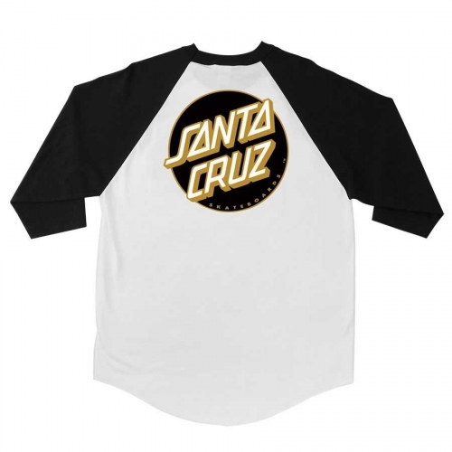 SANTA CRUZ  Other Dot 3/4 Sleeve Raglan White/Black