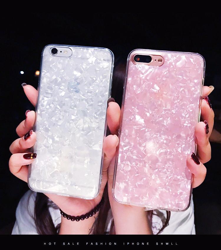 貝殻柄 Galaxy S9 Plusケース 可愛い Galaxy S8ケース 白 ピンク 二色