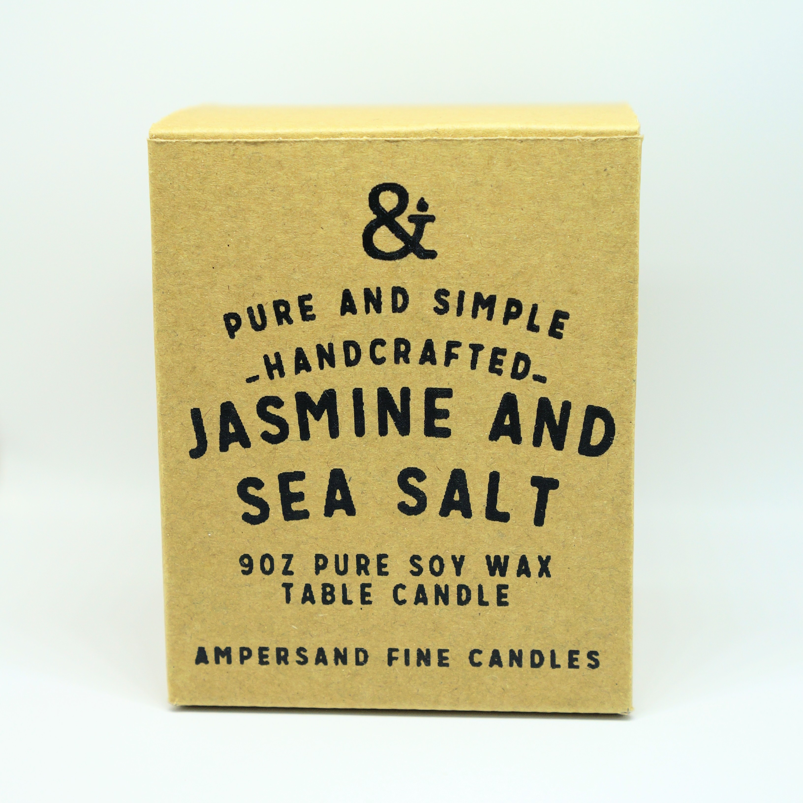 9oz Amber Jar Candle -JASMINE AND SEA SALT- キャンドル Candles - 画像1