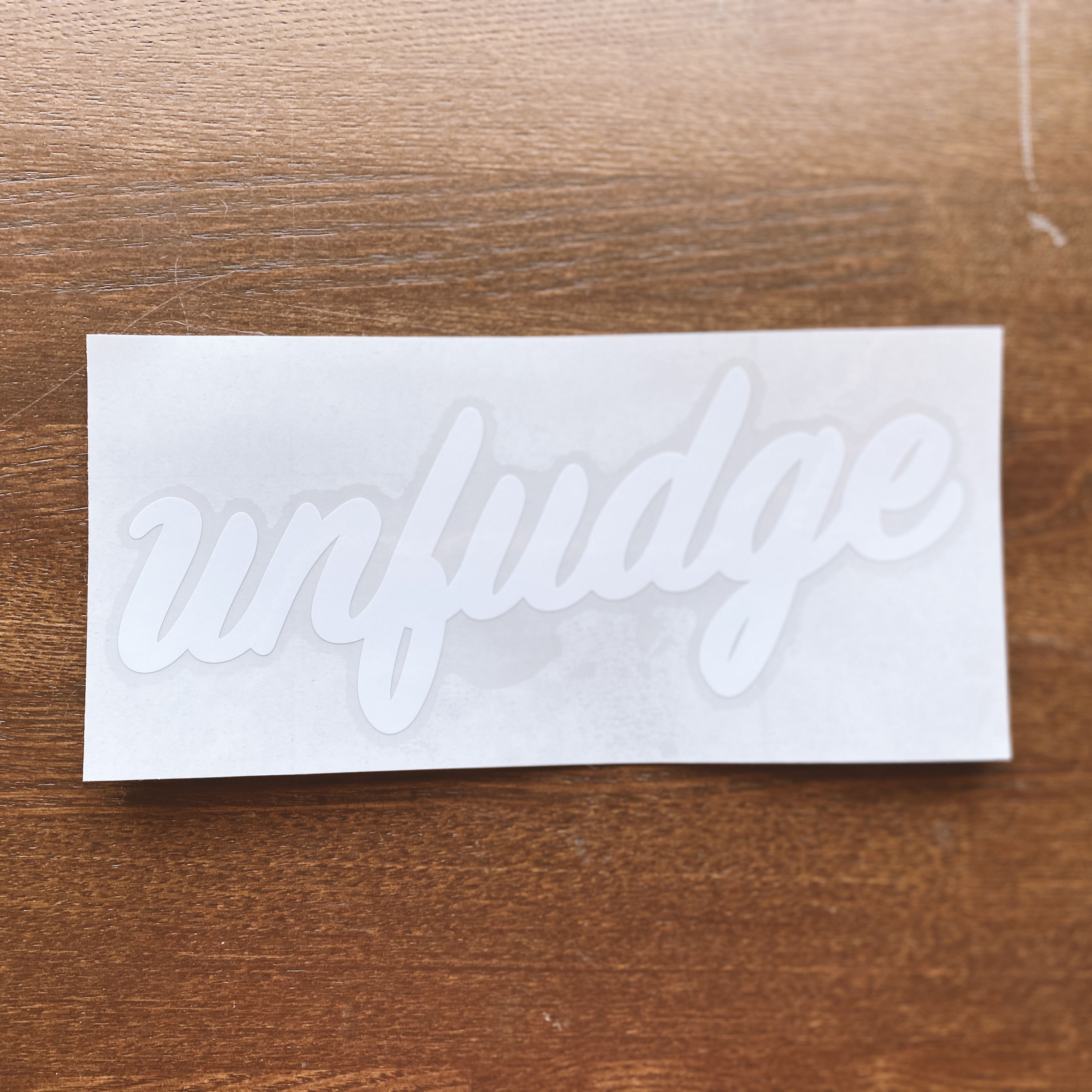 unfudge SCRIPT STECKERS / WHITE