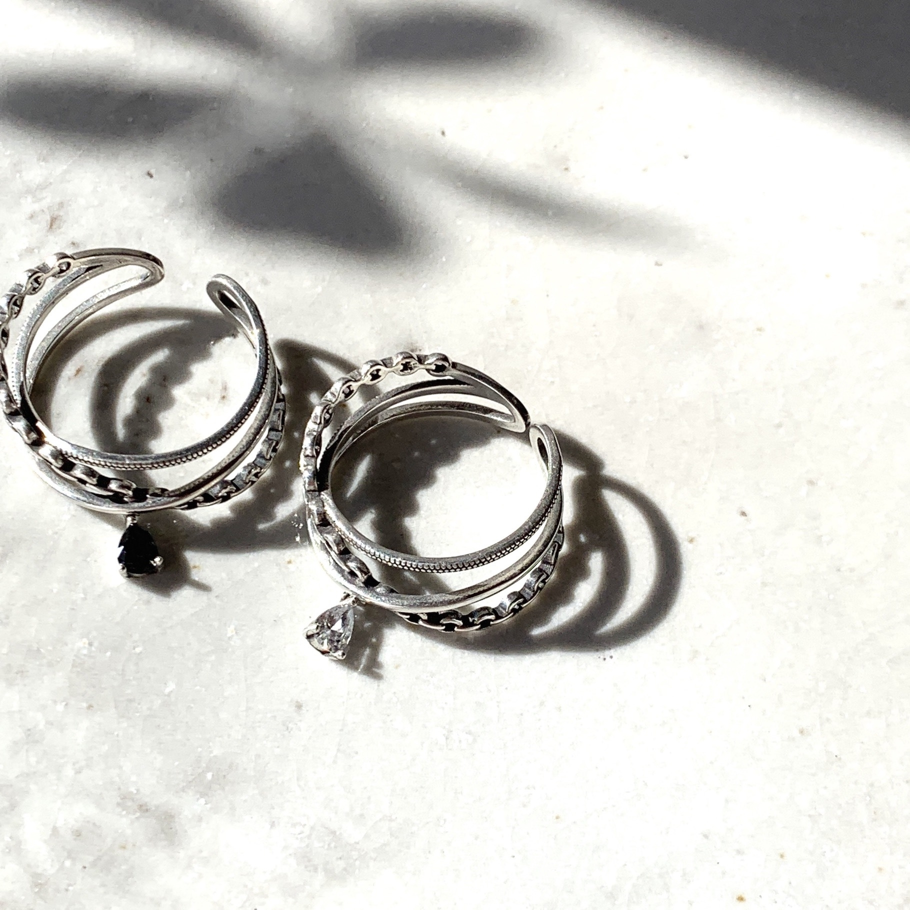 Charm string Ring_SP0104/Silver925