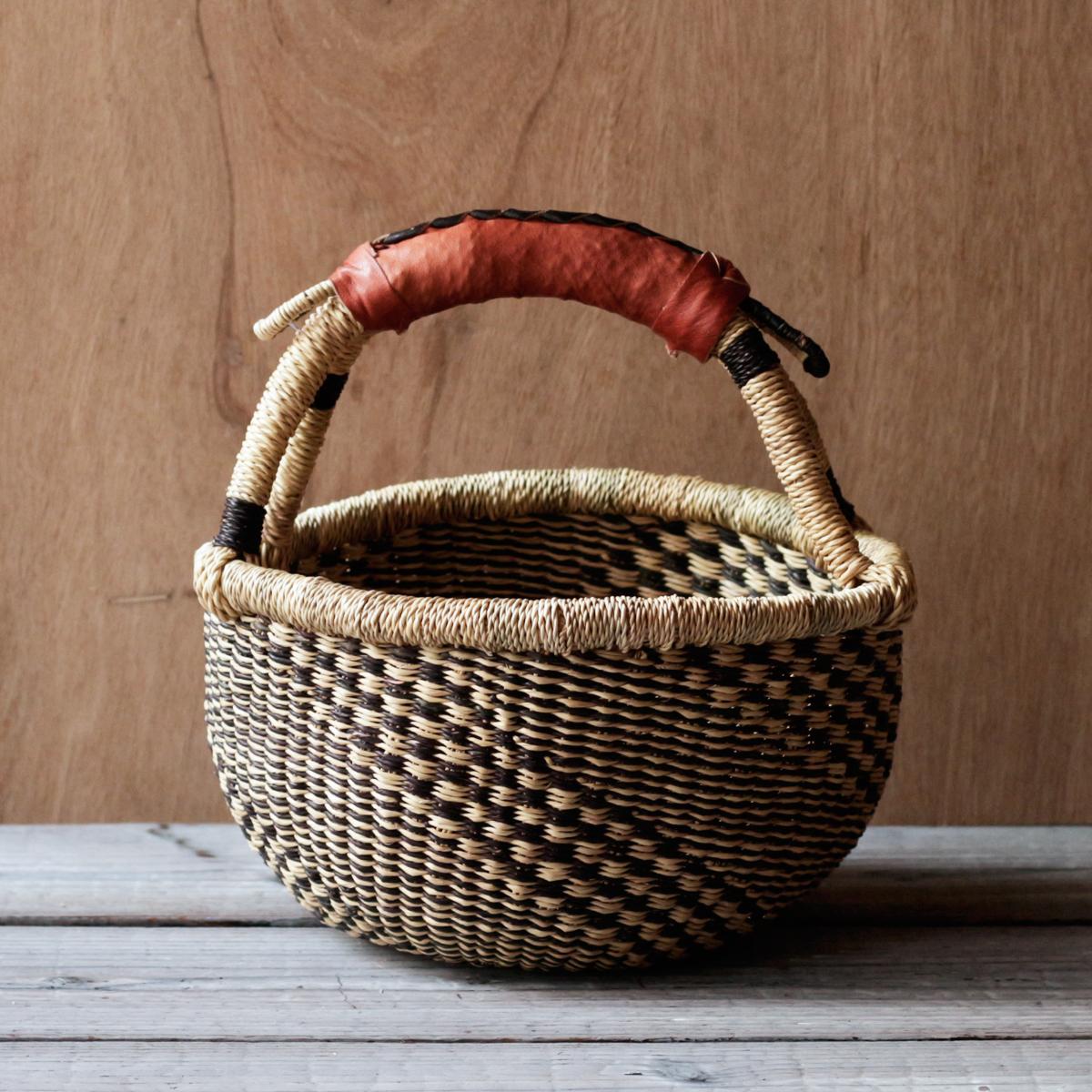 ガーナの手編み ボルガバスケット / 小 H