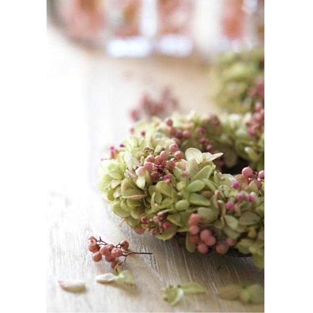 【リース】 ピンクペッパーベリーの秋色リース