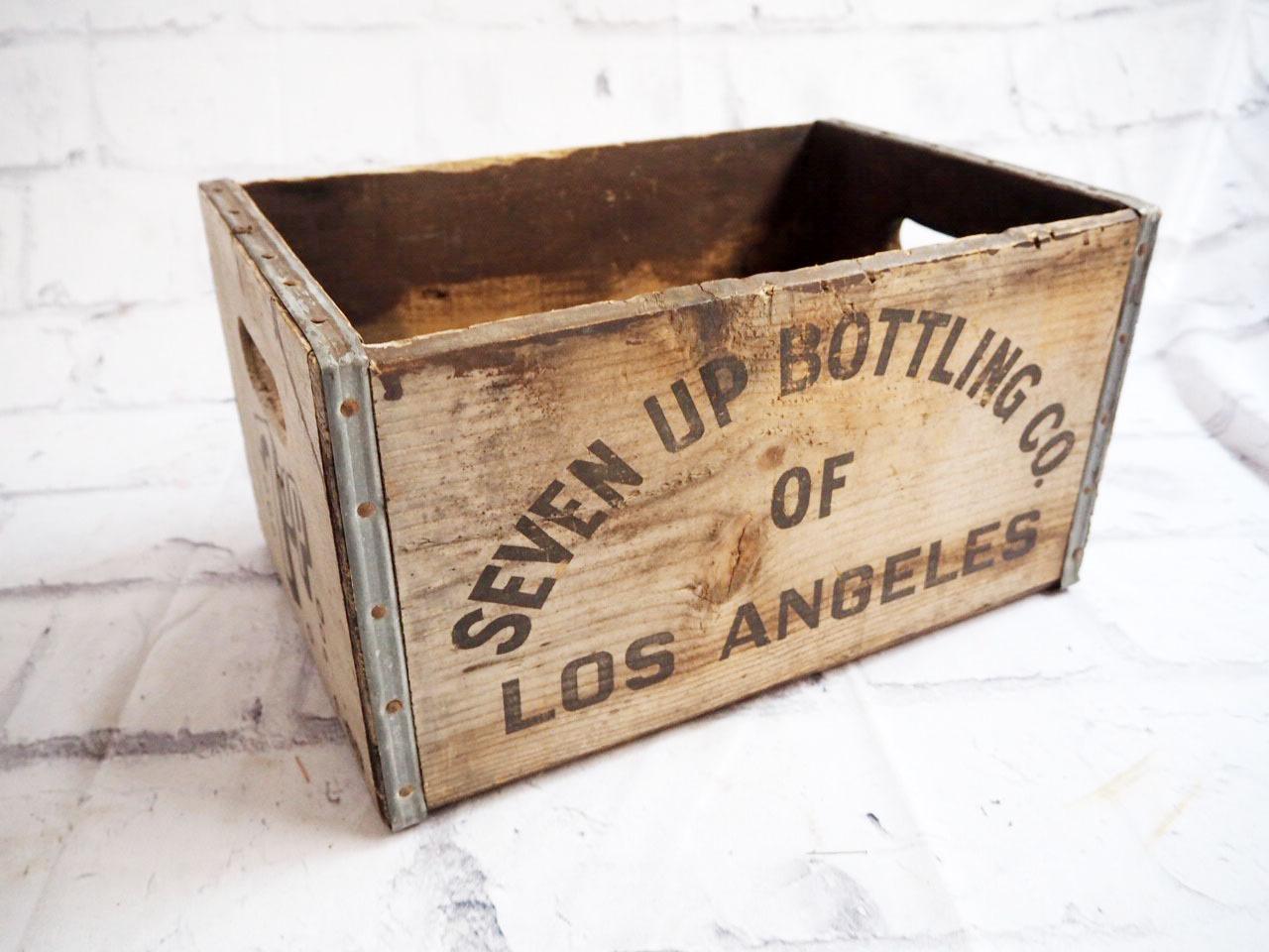 品番0967 セブンアップ 7UP 木箱 ウッドボックス ディスプレーボックス アメリカン ヴィンテージ
