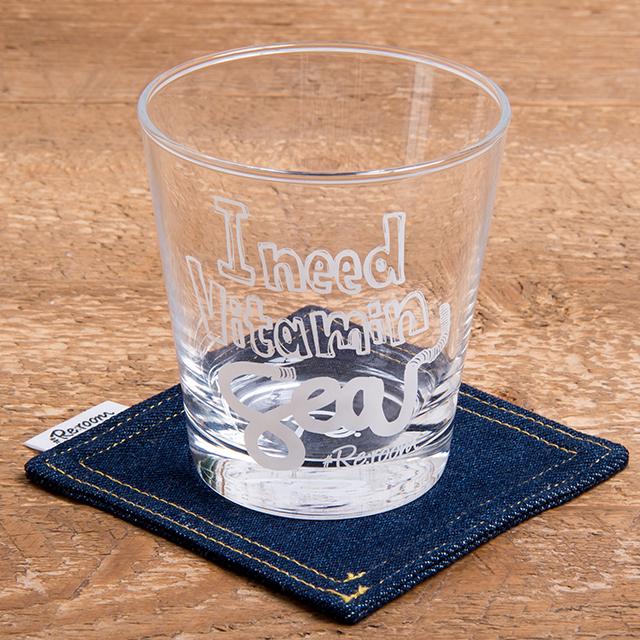 I need vitamin sea LOGO PRINT GLASS[REG040]