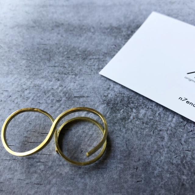 "N7enunana ""INFINITY RING(PLATE)"" 真鍮"