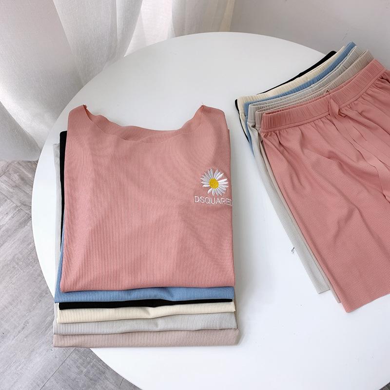 【パジャマ】カートゥーンファッションキュート刺繍パジャマ31558744