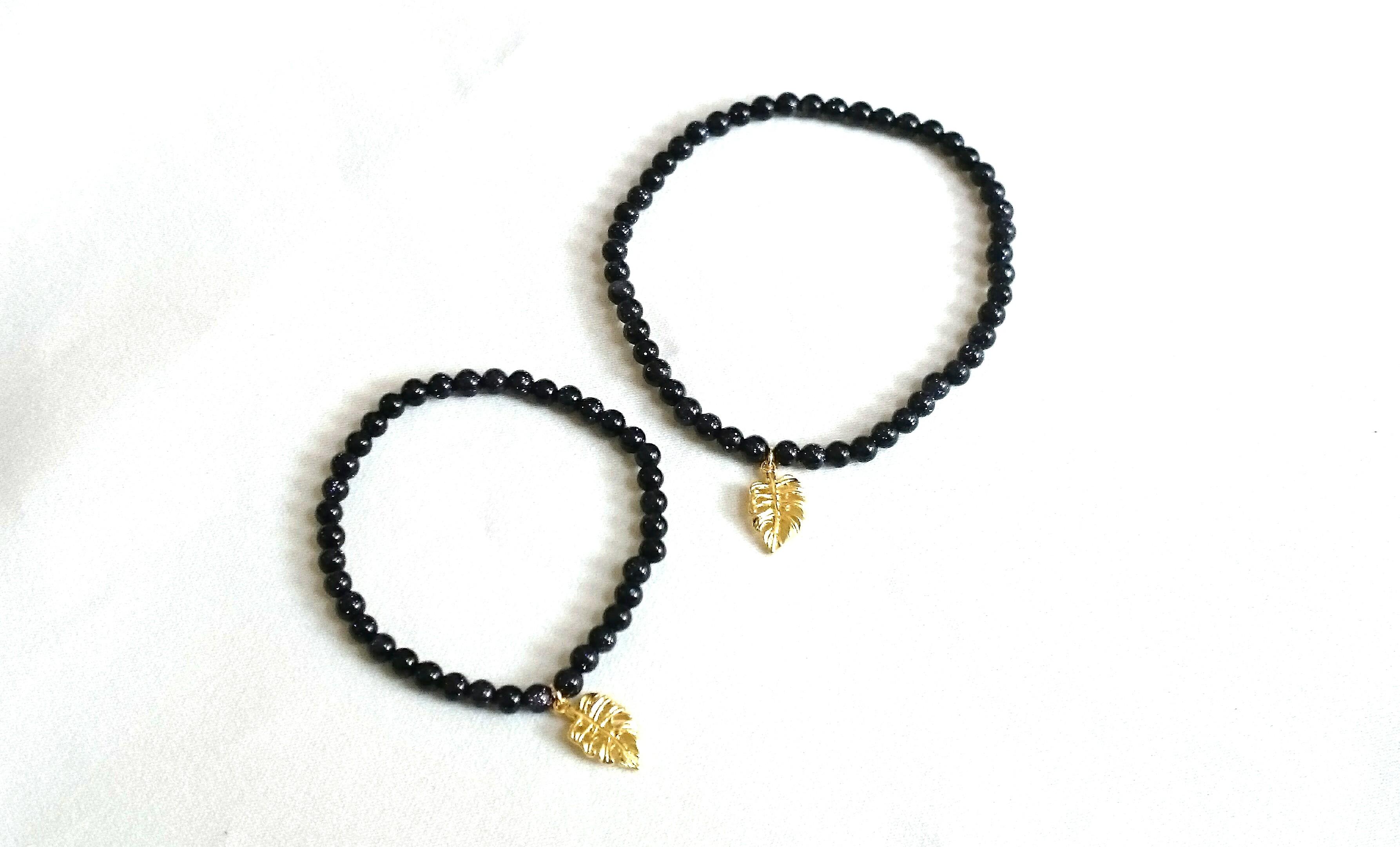 for couple bluegold stone bracelet