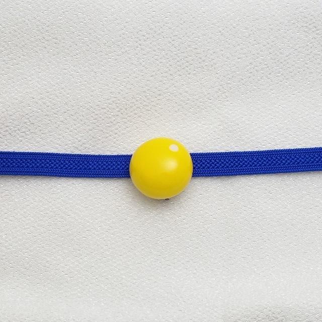 マメコロンカラー コロン帯留めブローチ【黄色】