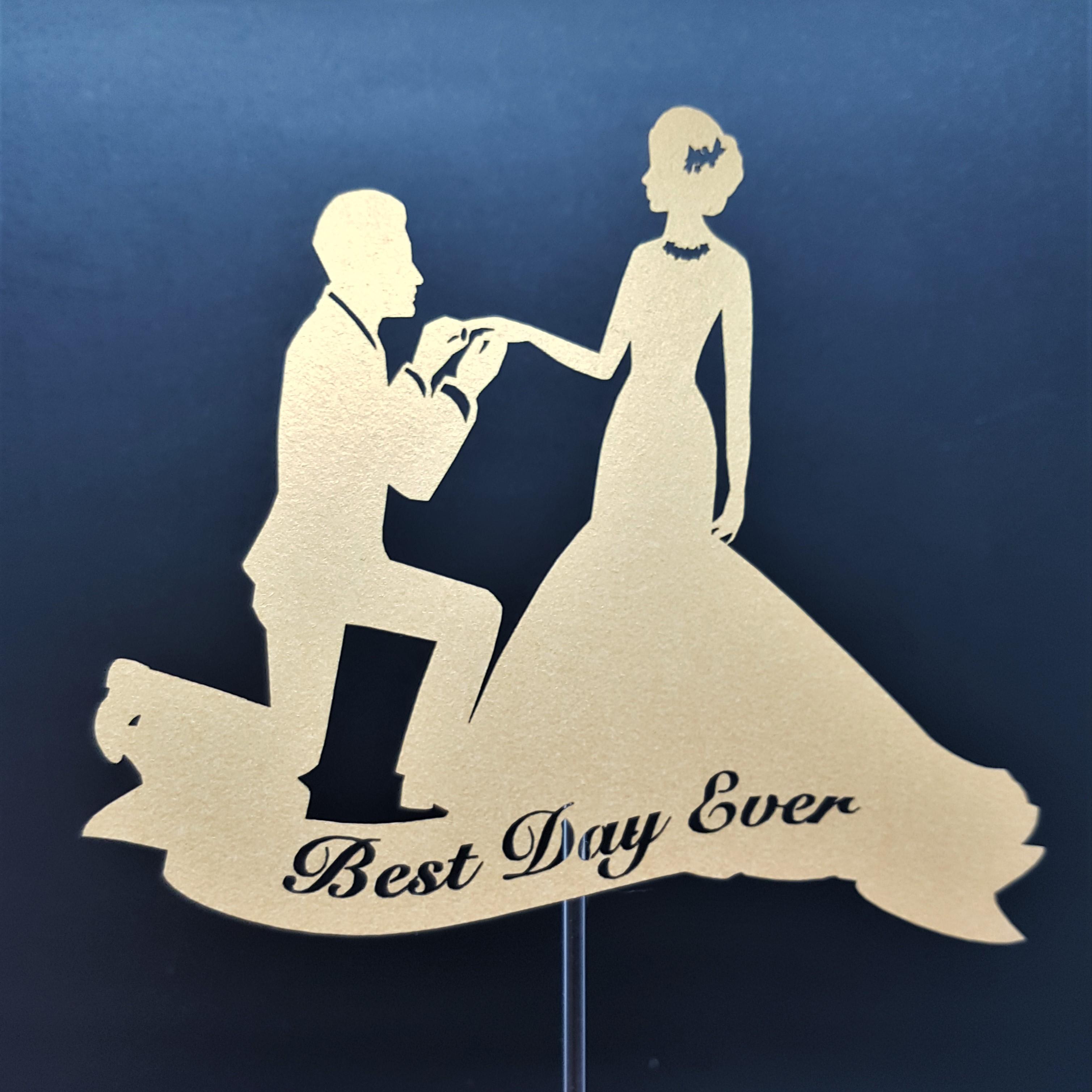 ケーキトッパー/ビック(指輪01)‐Wedding cake topper -