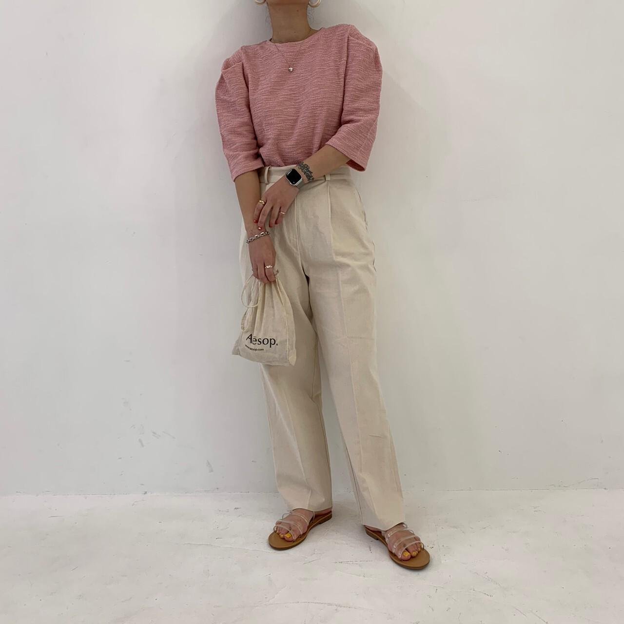 【asyu】tack puff  blouse