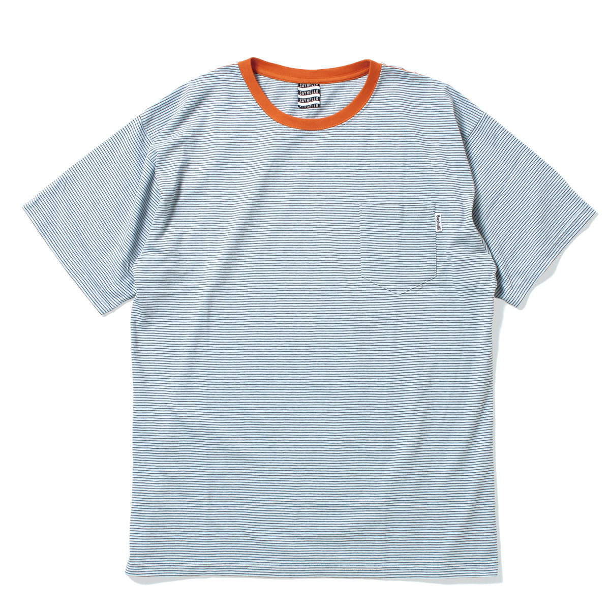 SAYHELLO/Trim Border S/S Tee