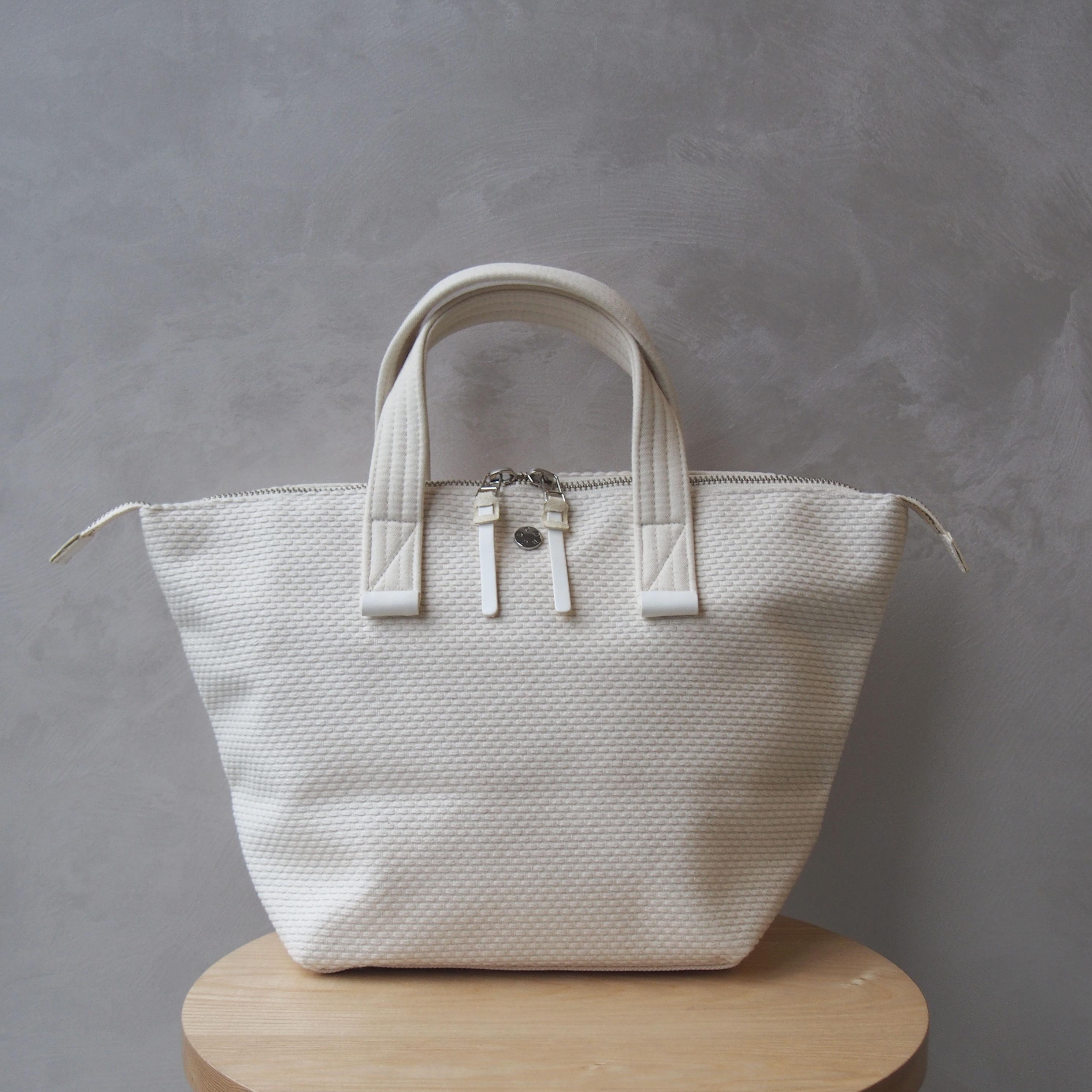 CaBas N°33 Bowler bag small White/White