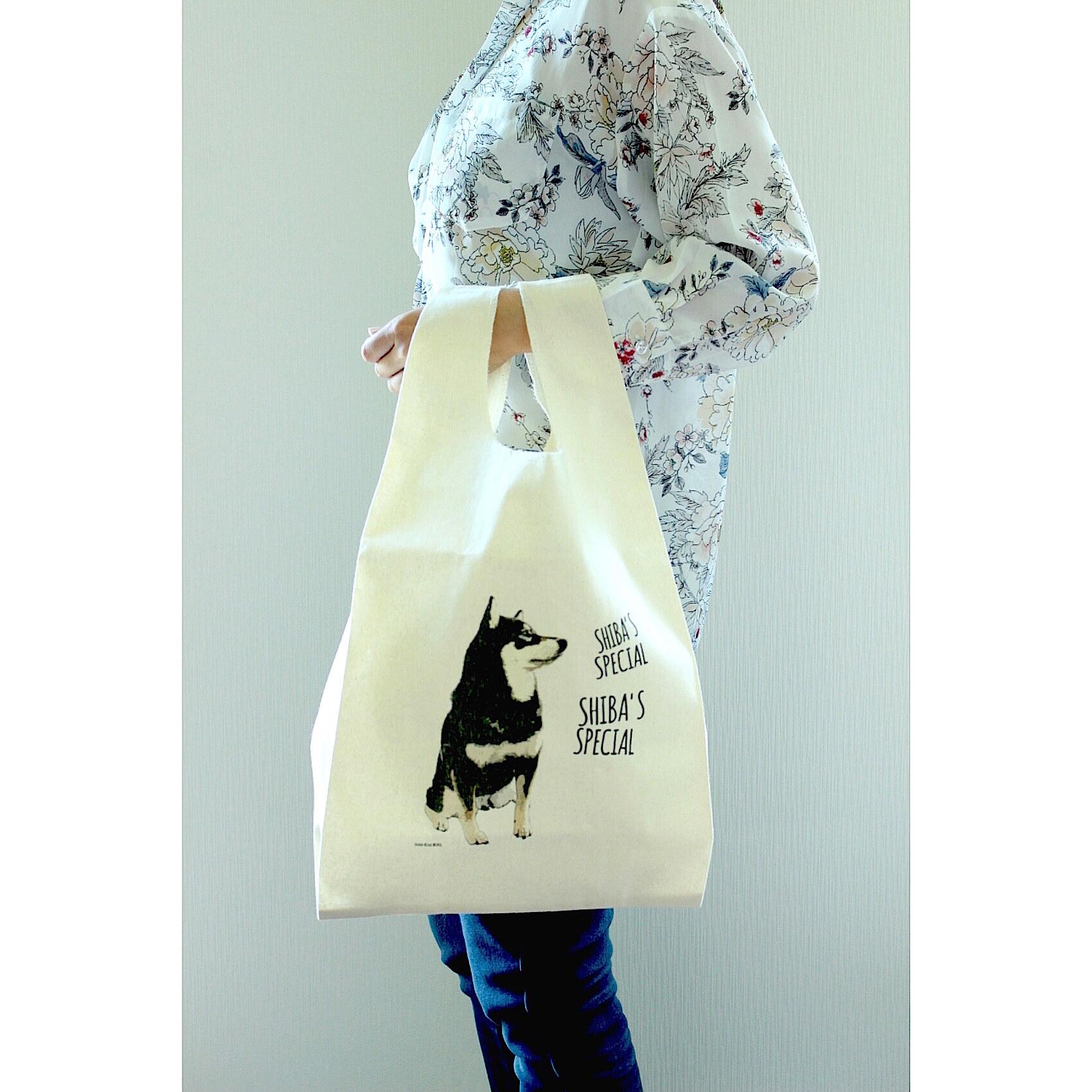 【再販なし】SHIBA'S SPECIAL 柴犬コットンマルシェバッグ