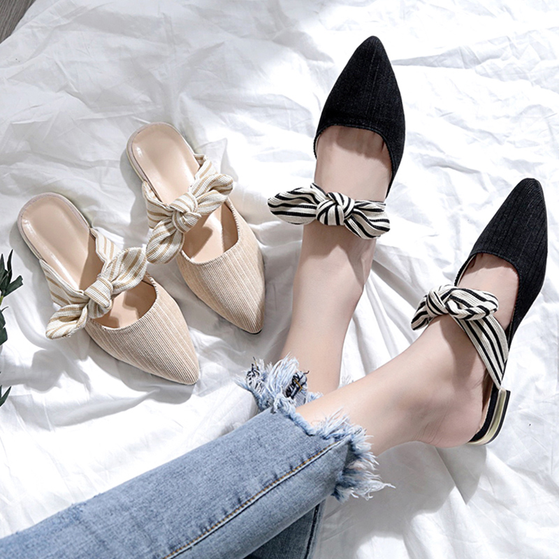 【shoes】気質アップ切り替え配色サンダル18779710