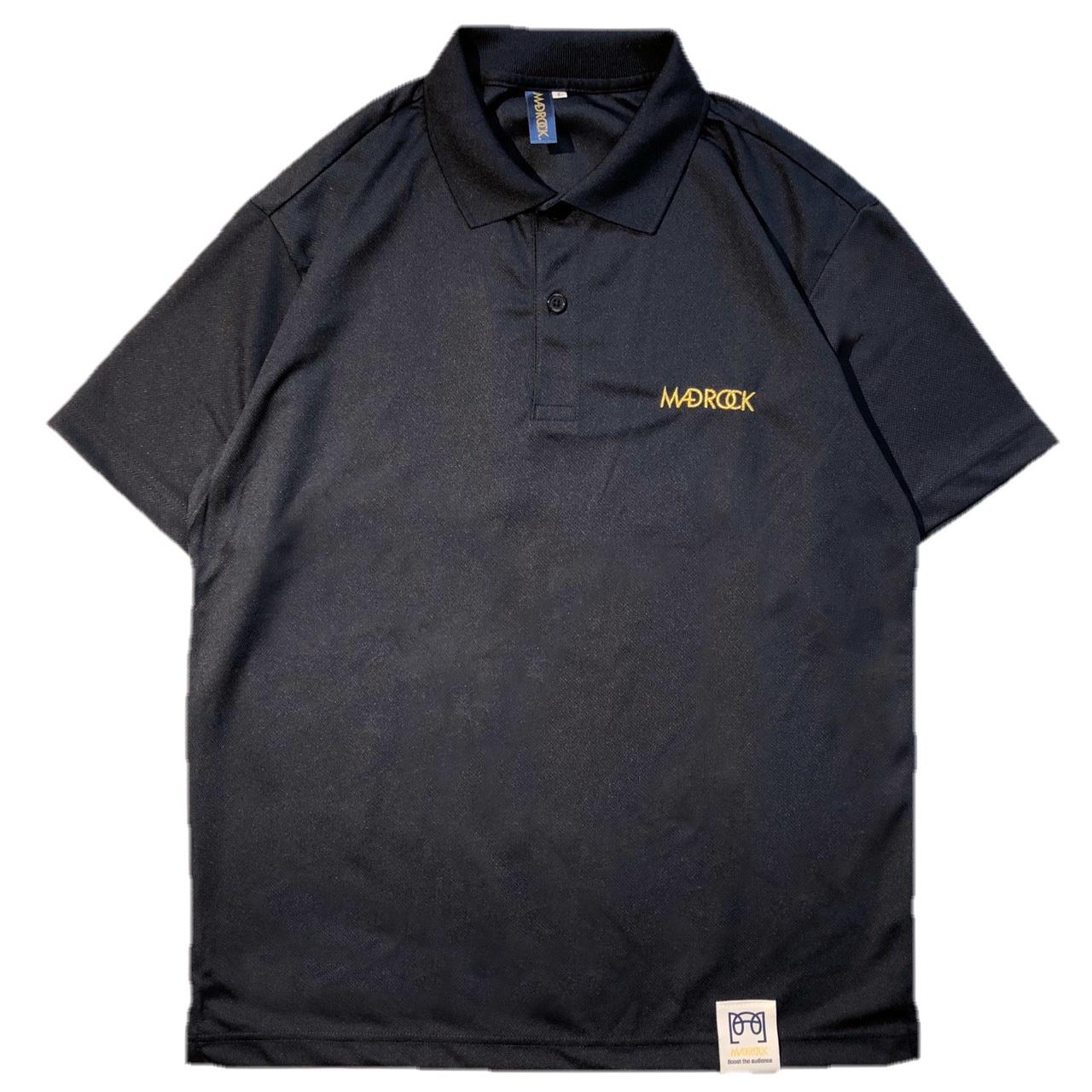 マッドロック ロゴ ポロシャツ/ドライタイプ/ネイビー&ゴールド