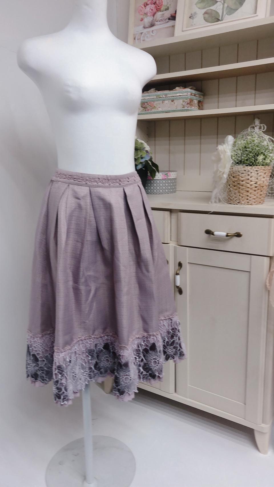 [アウトレット]axes 花柄レースロングスカート