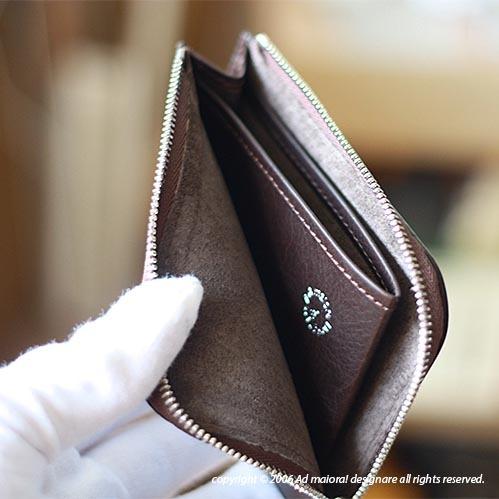 "L型財布 ""Leatus"" ・チョコ×ブラウン[受注生産品]"