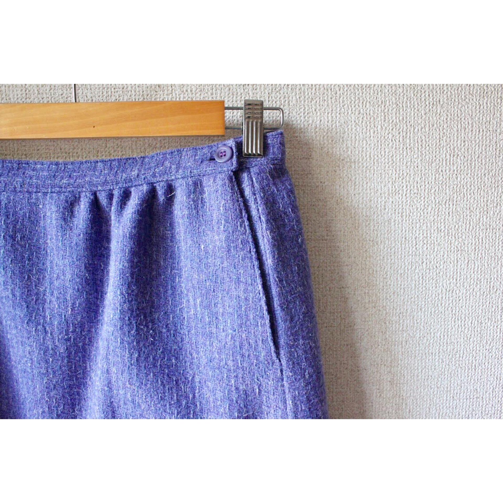 Vintage purple wool skirt by Pendleton