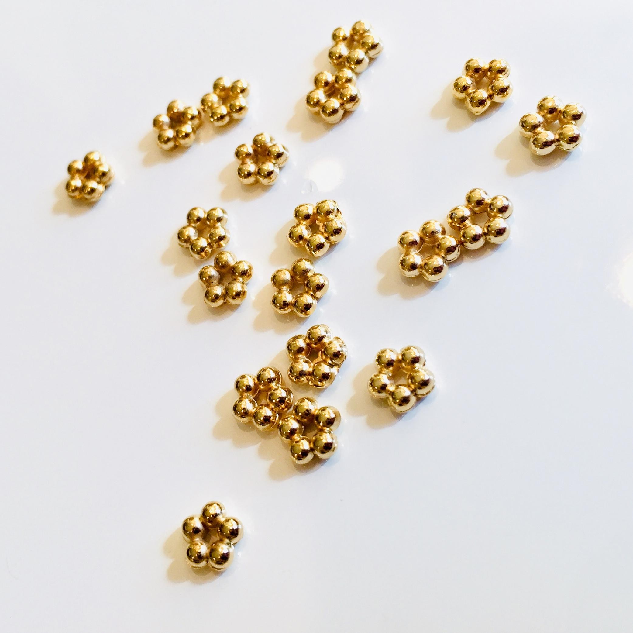 メタルパーツゴールド 5玉 約4mm用 6個セット