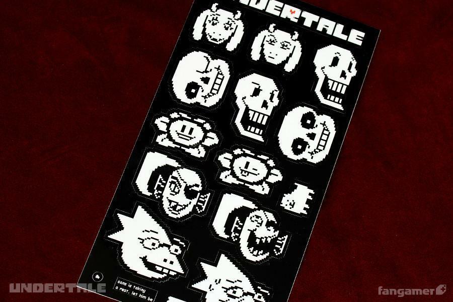 アンダーテイル ちゅーカットステッカー / UNDERTALE ( アンダーテイル )