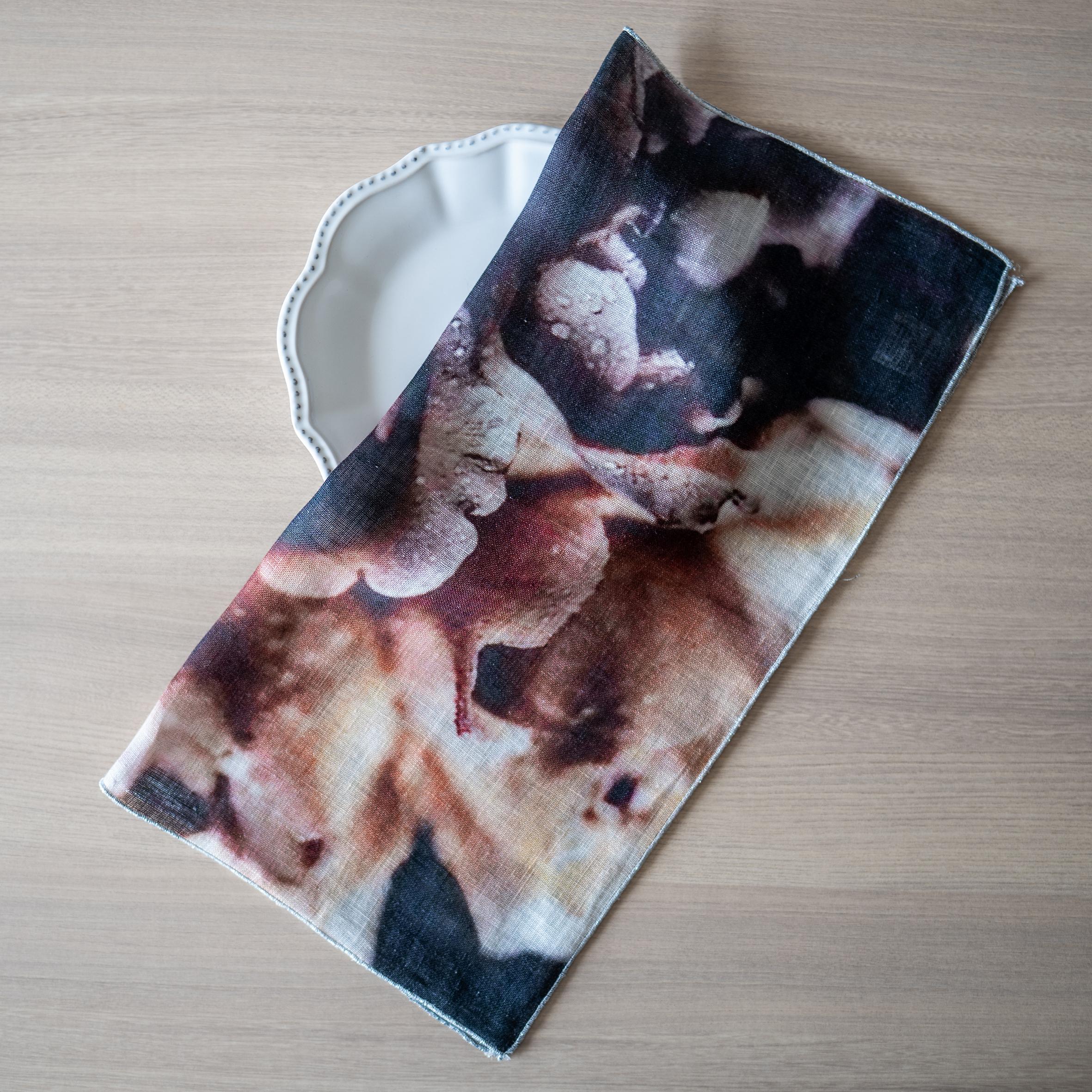 ボルゴ ピュアリネンガーゼナプキン - Petali Rugiada( BORGO Pure linen gauze napkin )