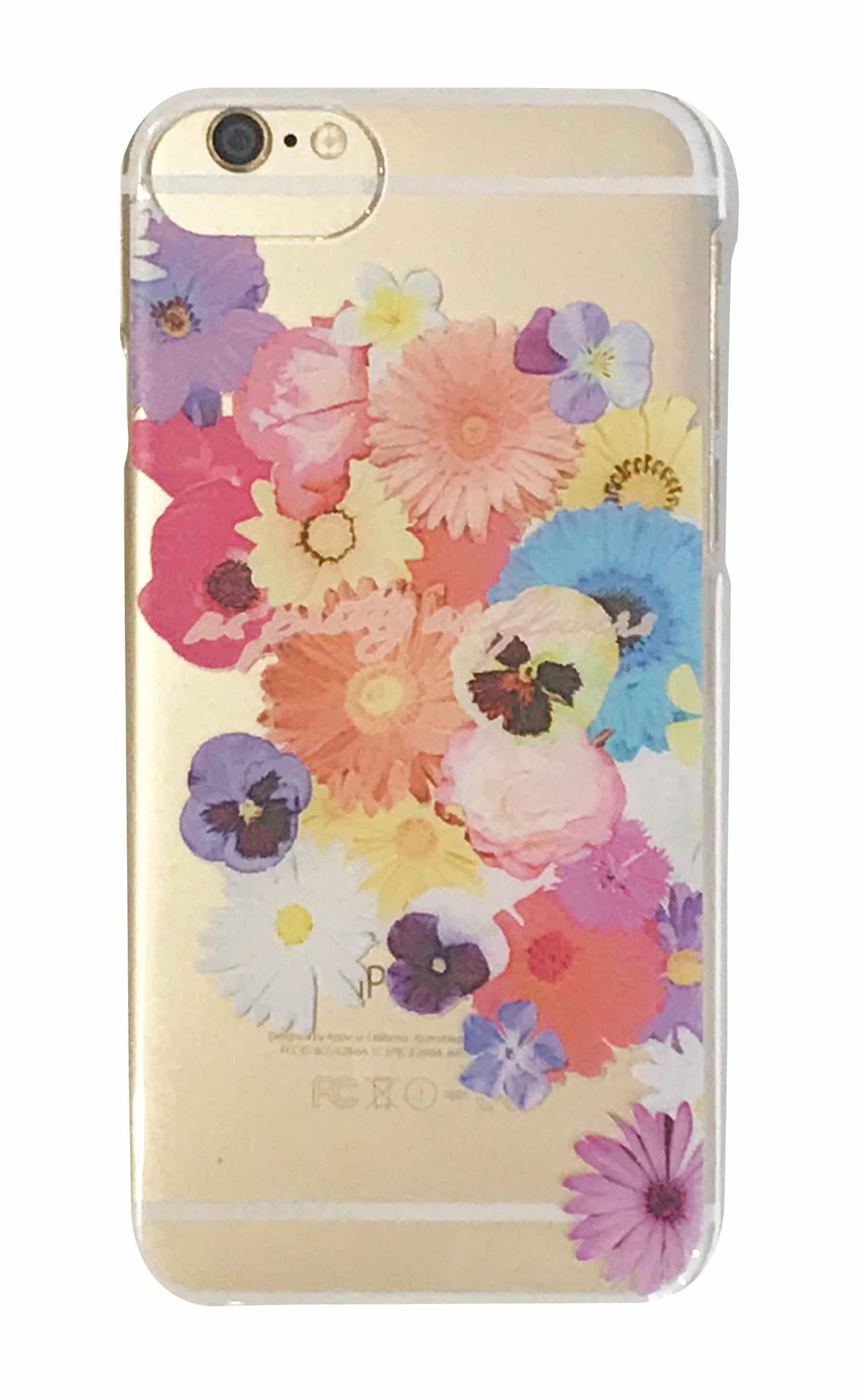 pretty flowers クリアハードケース