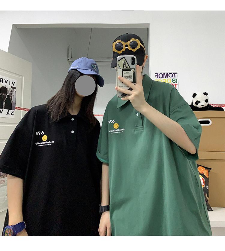 オーバーサイズカジュアルサマーシャツ トレンド 韓流ファッション ユニセックス