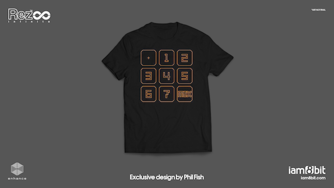 【Rez Infinite】Tシャツ(Exclusive Design by Phil Fish) - 画像2