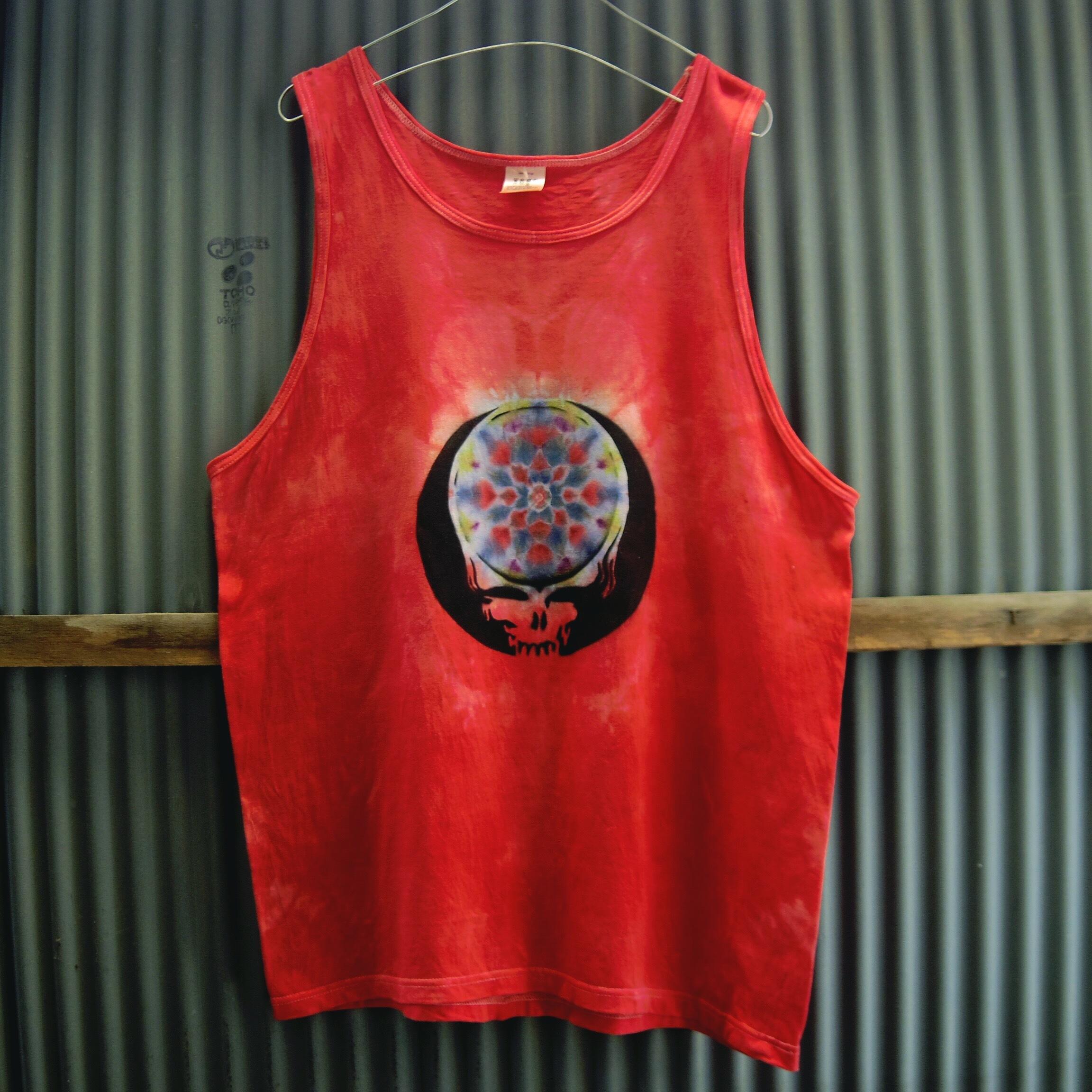 TKHOME FACTORY×GRATEFUL DEAD SYF Mandala dyeing tank top Lsize